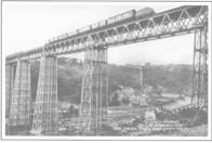 View of Viaduct above Navigation Colliery.