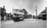 Trams Outside Victoria Park.